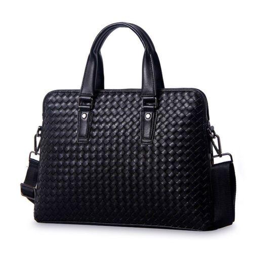 Genuine Leather Men Briefcase Business Laptop Bags Shoulder Notebook Luxury Bag