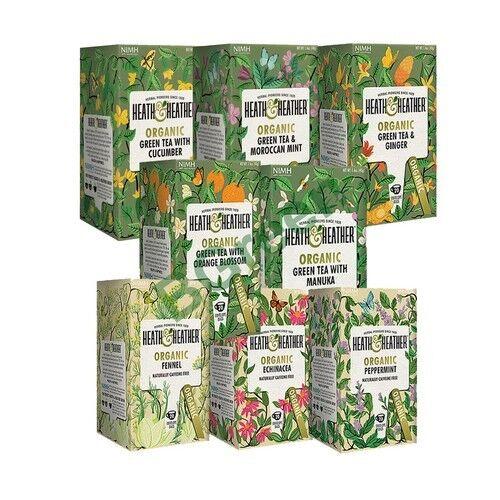 Heath and Heather Organic Teas 20 Tea Bags - Select Your Own Choice