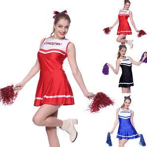 Cheerleader-Fancy-Dress-Outfit-High-School-Musical-Uniform-Cheers-Costume