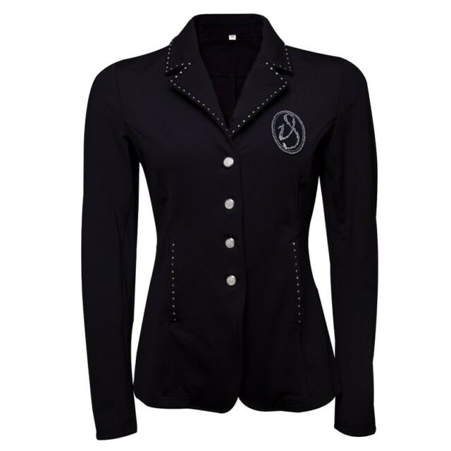 Turnierjacke Starlight Imperial Riding schwarz mit crystal Strasssteinen Strass