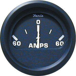 Faria Ammeter boat gauge Euro Black far 12822