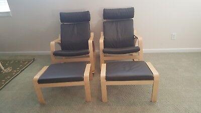 Surprising Ikea Mia Reclining Leather Chairs With Ottomans Ebay Inzonedesignstudio Interior Chair Design Inzonedesignstudiocom