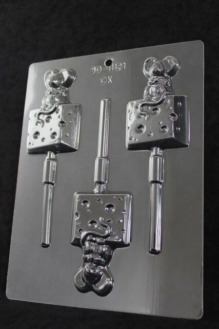 Mouse on Cheese Chocolate Lolly Mould CK Products 11121 Free 1st class post
