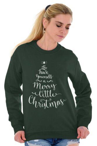 Merry Little Christmas Shirt for Women Cool Gift Idea Santa Pullover Sweatshirt