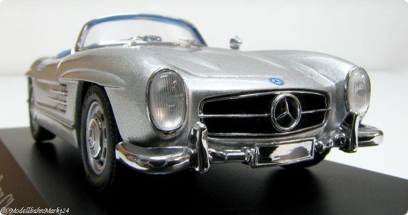 SCHUCO Mercedes-Benz 300 SL silber metallic blaue IA