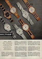 1959 PAPER AD Waltham Wrist Watch Farmington Rototron Northampton 53 Jewel