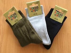 3 Paar Socken Söckchen Jungs Gr. 23-26 NEU + OVP tolle Farben
