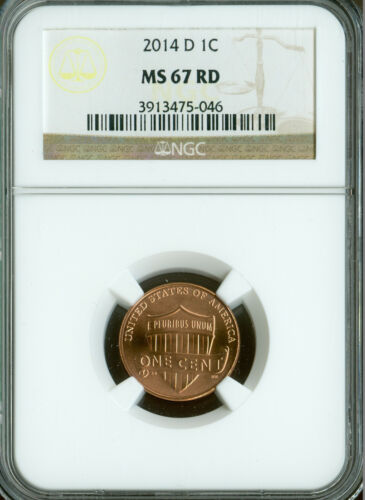 2014-D LINCOLN LOGO CENT SHIELD NGC MS67 RED  *