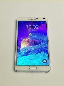 TELEFONO-USATO-SAMSUNG-NOTE-4-32GB-N910F-5-7-034-ANDROID-6-PENNINO-GARANZIA-BIANCO