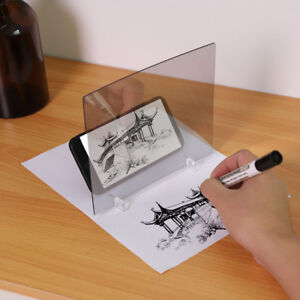 LED-Light-Stencil-Drawing-Board-Tracing-Sketch-Mirror-Reflectio-Phone-Dimming-TH