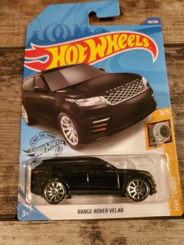 1:64 Hot Wheels Range Rover Velar #119 BLACK HW Turbo 3//5 VHTF New Moc FAST