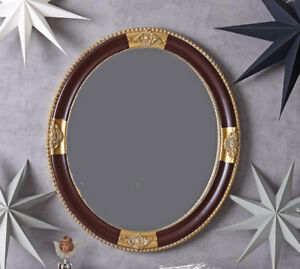 Mirror-round-Baroque-Wall-Decorative-Kaminspiegel-Floor-Antique-Gold