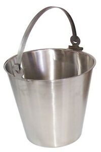 12 L Stainless Steel Bucket Industrial Pouring Container Storage Cleaning Bucket