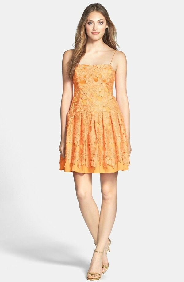 Adrianna Papell Brocade Fit & Flare Dress (size 8)
