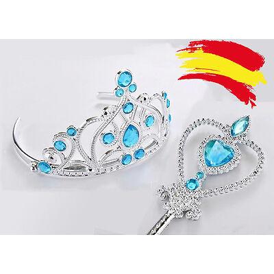 Corona y varita para disfraz de la princesa Elsa Frozen accesorios complementos