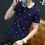 en-039-s-Slim-Fit-Short-Sleeve-Cotton-Shirt-T-shirt-Casual-Tops-Blous thumbnail 12