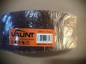 Vaunt 30220 Vaunt Sanding Belts 533mm x 75mm 40 Grit 10pk