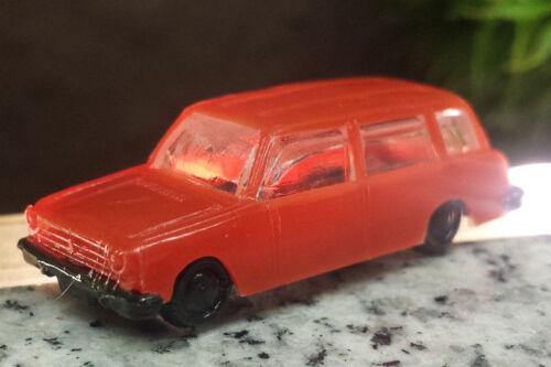 Modellauto Lada Spur N 1:120 DDR Plaste rot alt Zustand sehr gut N#1
