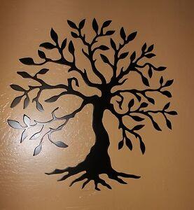 Image Is Loading Olive Tree Tree Of Life Black Metal Wall