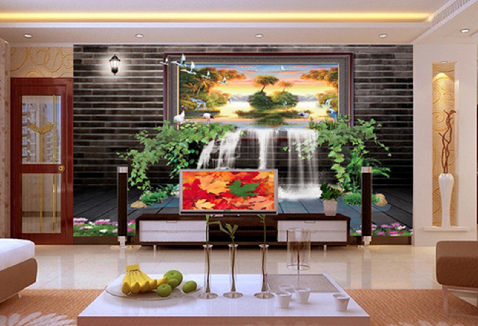 3D Stream Tree 495 Wallpaper Murals Wall Print Wallpaper Mural AJ WALL AU Kyra