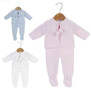11caa853820f GORGEOUS SPANISH KNITTED BABY GIRL BOY WHITE POM POM JACKET ...