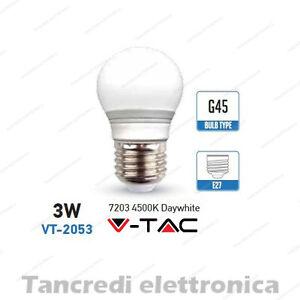 Lampadina-led-V-TAC-3W-25W-E27-bianco-naturale-4500K-VT-2053-minigolobo-G45