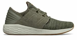 New-Balance-Men-039-s-Fresh-Foam-Cruz-v2-Knit-Shoes-Green-with-Green