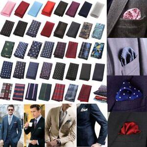 Men-039-s-Pocket-Square-Hankerchief-Korean-Paisley-Dot-Floral-Hanky-Wedding-Party