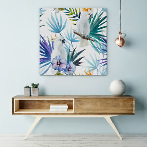 Image Is Loading Watercolour Bird Canvas Print Framed Ready To Hang