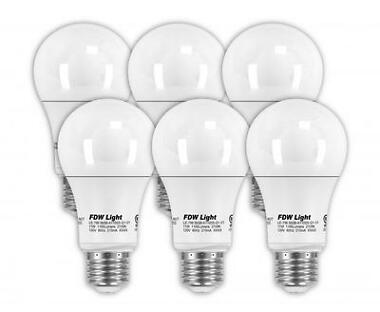 6-Pack 75W Equivalent A19 LED Light Bulb