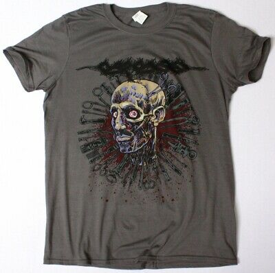 CARCASS HEAD ONE FOOT 2016 TOUR GREY CHARCOAL T SHIRT GRINDCORE DEATH METAL