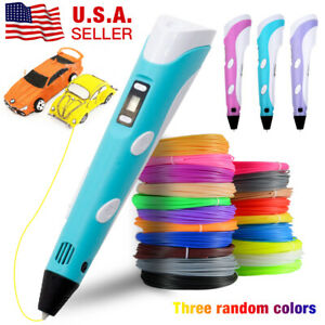 3D Printing Pen with USB Drawing Arts Printer Modeling 1.75mm ABS PLA Filament