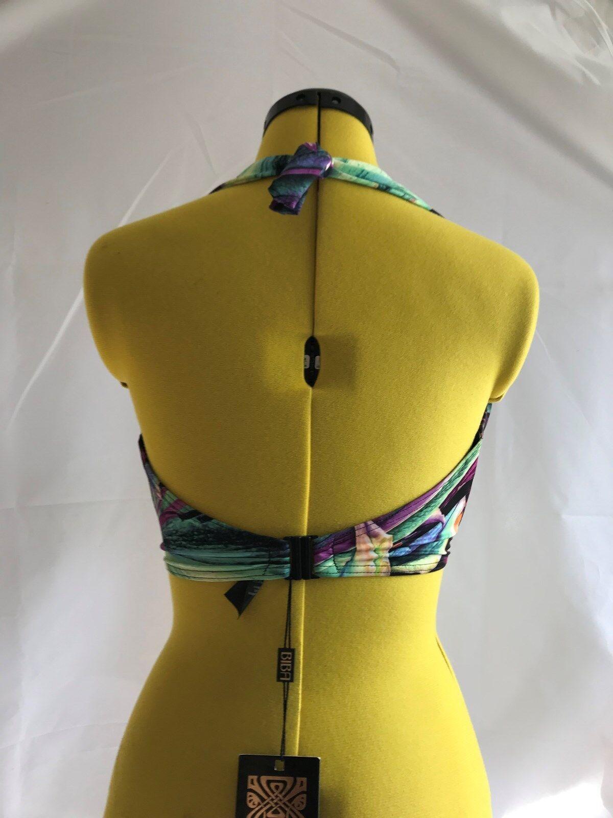 39fac4bc30 BiBA Tie Back Blue Velour Bikini Top Size UK 16 for sale online | eBay
