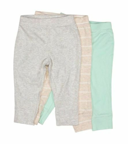 Cloud Island 3 Pack Infant Boy//Girl Pants Bottoms 100/% Cotton NWT Size NB