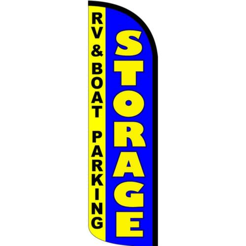 Flag, Pole, /& Ground Rv Boat Parking Windless Feather Flag Kit Bundle Storage