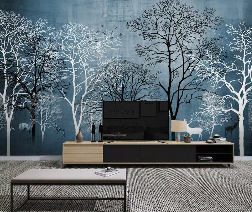 3D Tree Branches I2504 Wallpaper Mural Sefl-adhesive Removable Sticker Wendy
