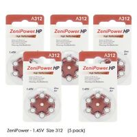 Zenipower Hearing Aid Batteries Size 312 1.45v, Pr41 (30 Batteries Total)