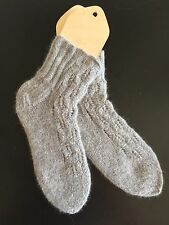Luxury hand knitted genuine FOX HAIR  Bed / House Socks size M/L
