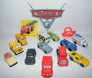 Disney Cars 3 Movie Party Favors Set of 14 with 12 Cars, Cars Ring ...
