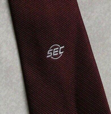 Liberale Vintage Cravatta Da Uomo Cravatta Crested Logo Aziendale Da Ernex Di Londra Sec 1980s-