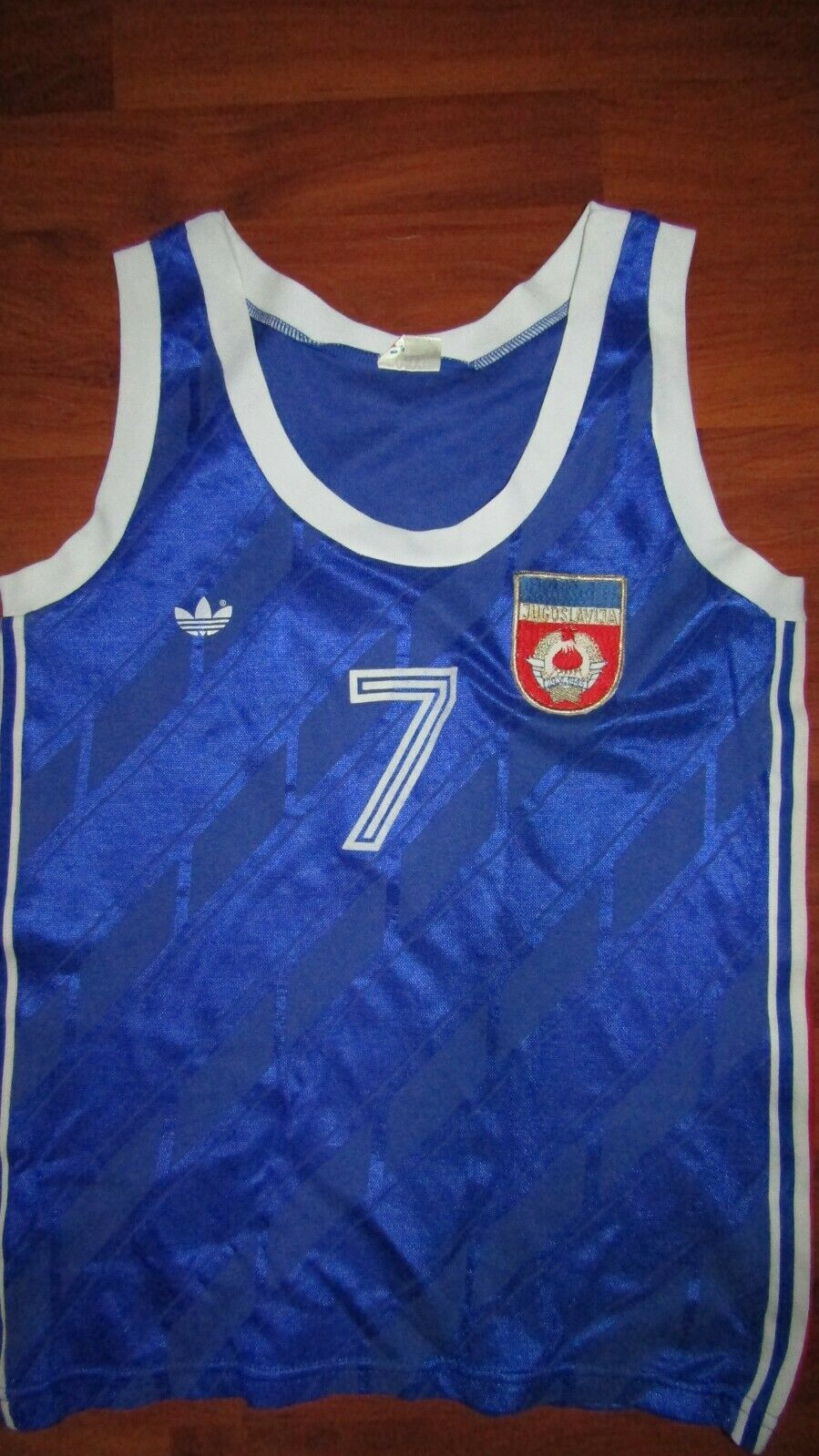 Yugoslavia, Adidas, Match Worn Baloncesto Camiseta, Vintage, 80s-90s, mujeres
