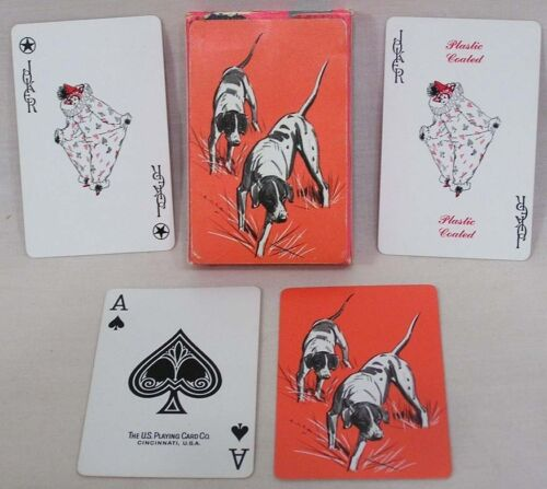 Vintage Deck Avon Playing Cards Hunting Dog Backs