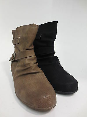 R22C Brown or Taupe F5R0336 Spot On Ladies Ankle Boots Black