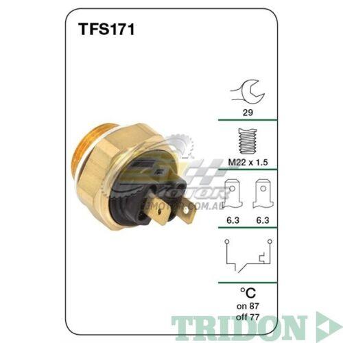 SOHC 8V Petrol J6R TRIDON FAN SWITCH FOR Renault Fuego 08//84-12//88 2.0L