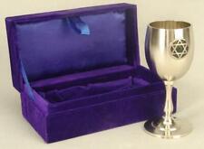 Kiddush Cup with Star Monogram in Velvet Box