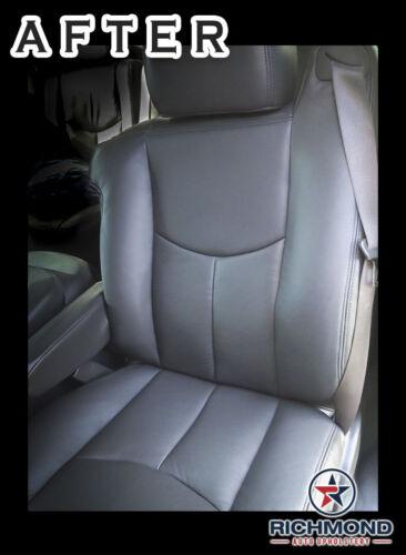 PASSENGER Side Lean Back Leather Seat Cover DARK GRAY 2005 2006 Chevy Silverado