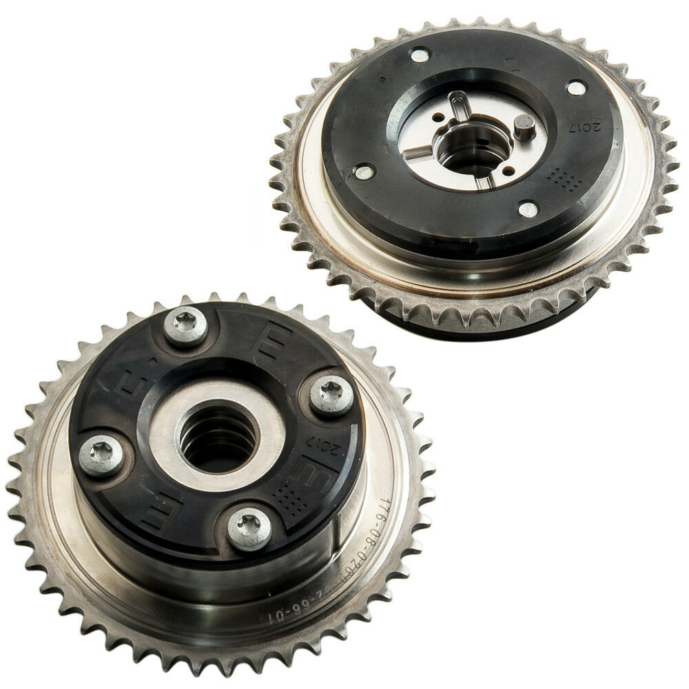 Pair Camshaft adjuster Compatible For Mercedes M271 1.8L A2710500800 A2710500900