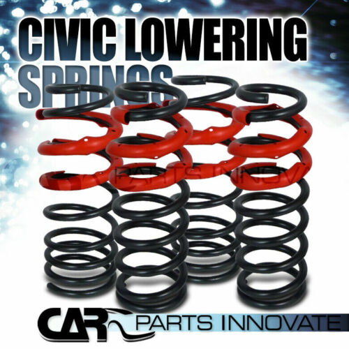 Fit 92-01 Civic del Sol Integra Suspension Front Rear Coilover Lowering Springs