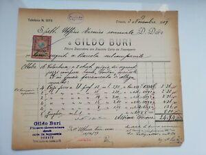 FATTURA PITTORE E DECORATORE GILDO BURI TRIESTE 1909   eBay