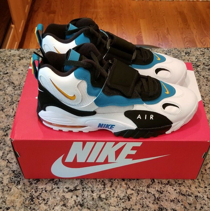 Nike Air Max Speed Turf Dan Marino Dolphins White Teal orange 525225-100 NEW